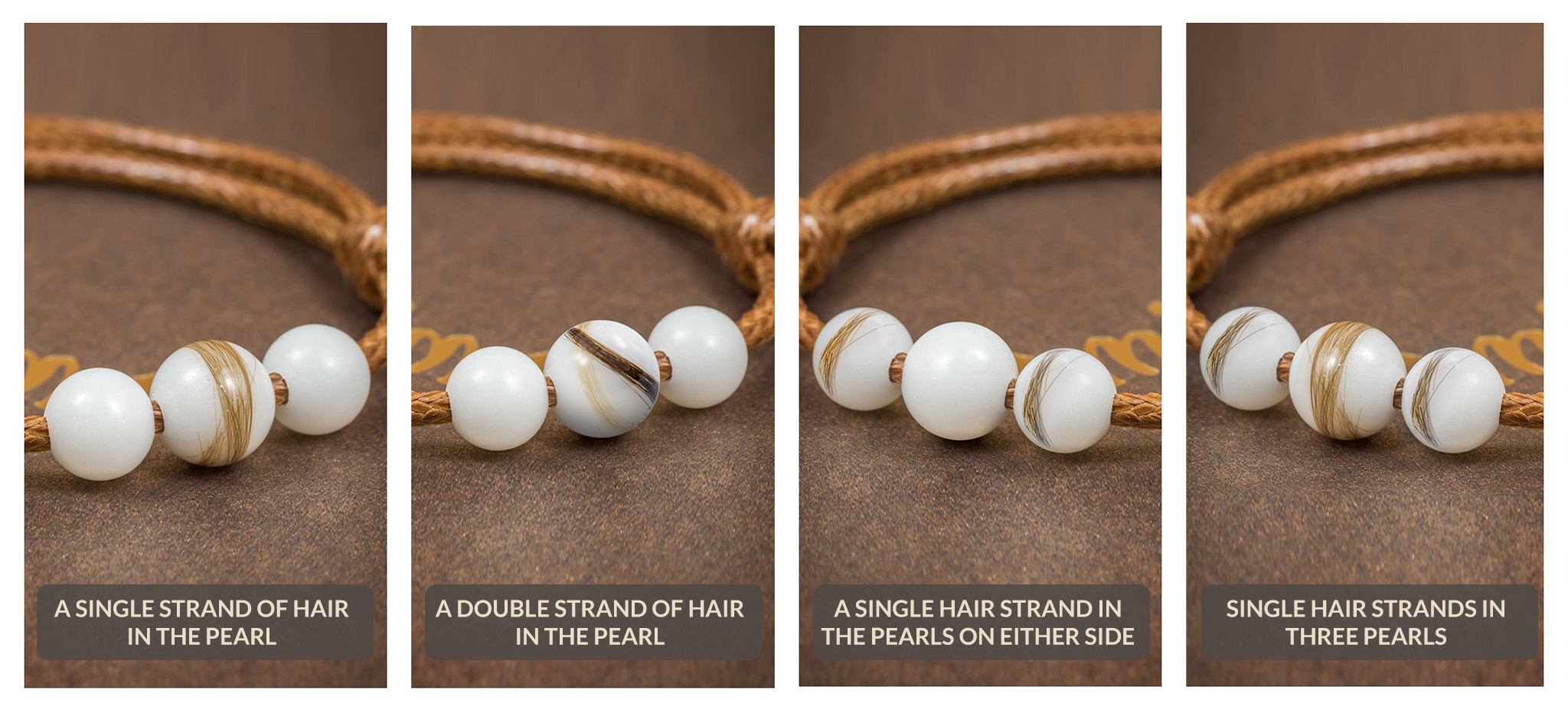 Hair strands in the pearl/-s *